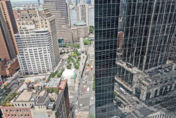 view or skyscrapers from the New York offices of Avon